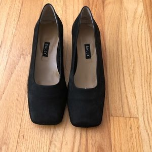 Bally black suede Italian shoes size 5